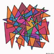 Triangles In Motion Print by ME Kozdron