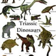 Triassic Dinosaurs Art Print