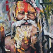 Tribal Chief Sadhu Art Print