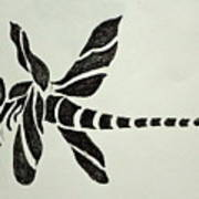Tribal Dragonfly Art Print by Pete Maier
