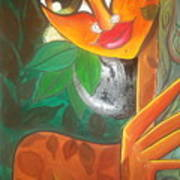 Tribal Lady Art Print