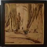 Tribal Man With Wooden Waste Art Print