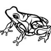 Tribal Ribbet  Art Print