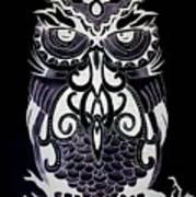Tribeowl Reverse Art Print