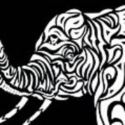 Tribephant Reverse Art Print