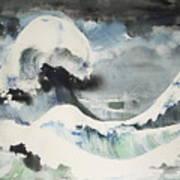 Tribute To Hokusai Art Print