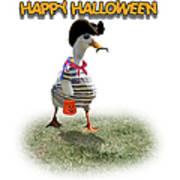 Trick Or Treat For Cap'n Duck Art Print