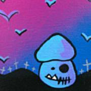 Tricky Zombie Mushroom Art Print by Jera Sky