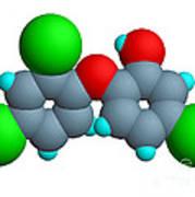 Triclosan Molecule Art Print