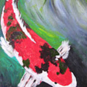 Tricolored Koi Art Print