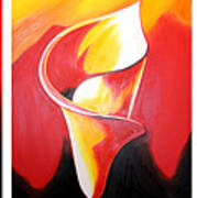 Triple Lily Paintings Art Print