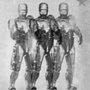 Triple Robocop Art Print