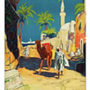Tripoli, Libya, City, Baudouin With His Camel Art Print