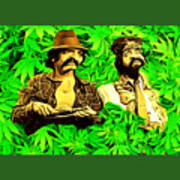 Trippin With Cheech And Chong Art Print