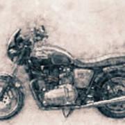 Triumph Bonneville - Standard Motorcycle - 1959 - Motorcycle Poster - Automotive Art Art Print