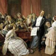 Triumph Of A Tenor At A Musical Matinee Art Print