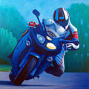 Triumph Sprint - Franklin Canyon  Art Print