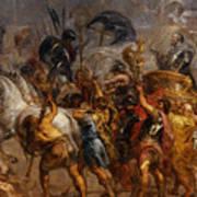Triumphal Entry Of Henry Iv In Paris Art Print