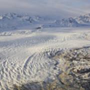 Triumvirate Glacier In Winter Light Art Print