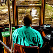Trolley Driver In New Orleans Art Print