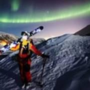 Tromso Winter Skiing Art Print