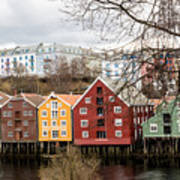 Trondheim Colors Art Print