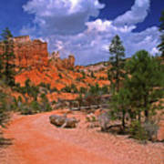 Tropic Canyon Bridge In Bryce Canyon Np Utah Art Print