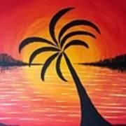 Tropic Of Palms Art Print