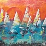 Tropic Sails Art Print