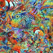 Tropical Beach Art - Under The Sea - Sharon Cummings Art Print