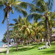 Tropical Beach I. Mauritius Art Print