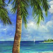 Tropical Beach One Art Print