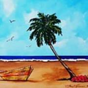 Tropical Beach Scene Art Print