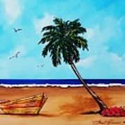Tropical Beach Scene Art Print