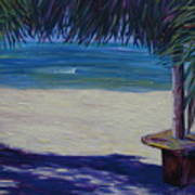 Tropical Beach Shadows Art Print