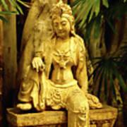 Tropical Buddha Print by Cheryl Young