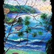 Tropical Cove  Fresco Triptych 2 Art Print