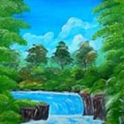 Tropical Falls Art Print