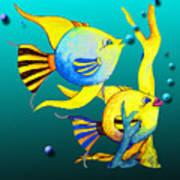Tropical Fish Fun Art Print
