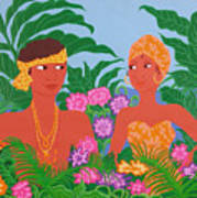 Tropical Flirtation Art Print