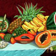 Tropical  Fruits Art Print