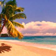 Tropical Island 6 - Painterly Art Print
