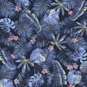 Tropical Leaves Pattern Art Print