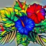 Tropical Neon Boutique  Art Print
