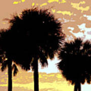 Tropical Palms Work Number Four Art Print