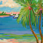 Tropical Sails Art Print