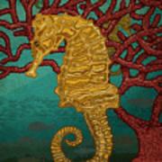 Tropical Seahorses Art Print