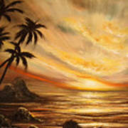 Tropical Sunset 65 Art Print