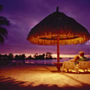 Tropical Tahitian View Art Print
