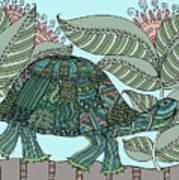 Tropical Turtle Art Print